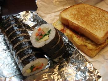 20090503 1朝食トースト&キムバプ.JPG