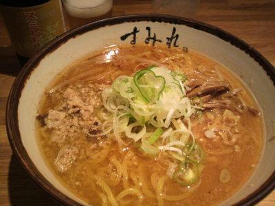 20100918 すみれ味噌ラーメン&ビール.JPG