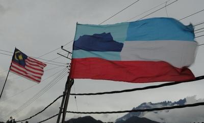 マレーシア国旗&サバ州旗.JPG